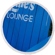 Louie S Lounge Round Beach Towel