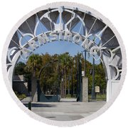 Louis Armstrong Park - New Orleans Louisiana Round Beach Towel