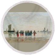 Louis Boudin Round Beach Towel