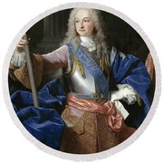 Louis De Bourbon Of Savoy. Prince Of Asturias. Later Louis I Of Spain  Round Beach Towel