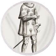 Louis De Mallet, Lord Of Graville Round Beach Towel
