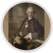 Louis-gabriel Blanchet Paris 1705 - 1772   Portrait Of A Gentleman Round Beach Towel