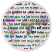 Louis Round Beach Towel