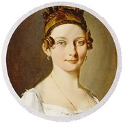 Louis-leopold Boilly - Portrait Of A Lady Round Beach Towel
