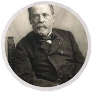 Louis Pasteur (1822-1895) Round Beach Towel