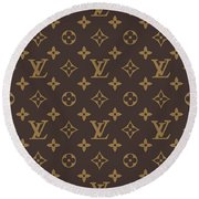 Louis Vuitton Texture Round Beach Towel