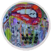 Louis Vuitton The Magnificent Twelve Perfumes Round Beach Towel