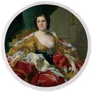 Louise-elisabeth Of France, Wife Of The Infante Philip, Future Duke Of Parma Round Beach Towel
