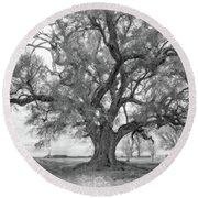 Louisiana Dreamin' Monochrome Round Beach Towel