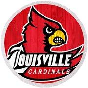 Louisville Cardinals Barn Door Round Beach Towel