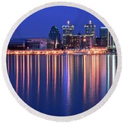 Louisville Lights Up Nicely Round Beach Towel