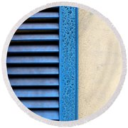 Louvered Round Beach Towel