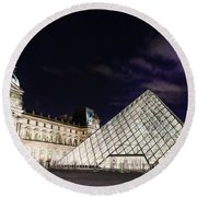 Louvre Museum 2 Art Round Beach Towel