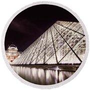 Louvre Museum 4 Art Round Beach Towel