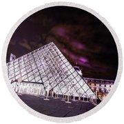 Louvre Museum 5 Art Round Beach Towel