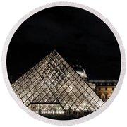 Louvre Museum 6 Art Round Beach Towel