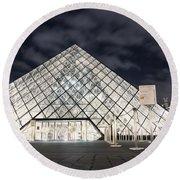 Louvre Museum Art Round Beach Towel