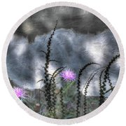 Love And Death Round Beach Towel by Wayne King