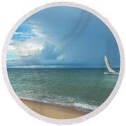 Love And Serenity Round Beach Towel