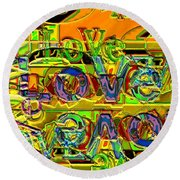 Love Contest Round Beach Towel