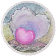 Love Endures All Things Round Beach Towel