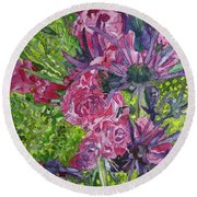 Love For Roses Round Beach Towel
