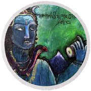 Love For Shiva Round Beach Towel