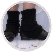 Love For Tap Dance Shoes In Dance Warmers Round Beach Towel