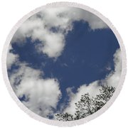 Love From Above Round Beach Towel