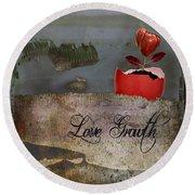 Love Growth - V2t1 Round Beach Towel