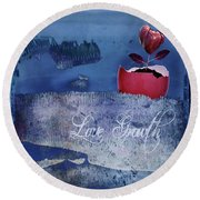Love Growth - V2t2c3b Round Beach Towel