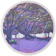 Love In Lal Bagh 4 Round Beach Towel