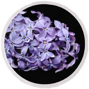 Love In Lilac Round Beach Towel