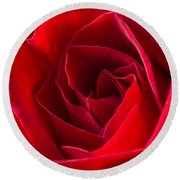 Love Is A Red Rose Round Beach Towel
