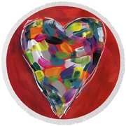 Love Is Colorful - Art By Linda Woods Round Beach Towel