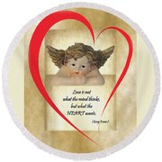 Love Is In The Heart Round Beach Towel