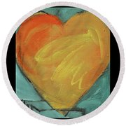 Love Is Just A Word Round Beach Towel