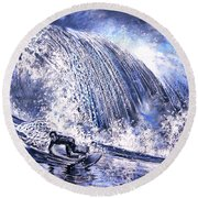 Love Is The Seventh Wave Round Beach Towel