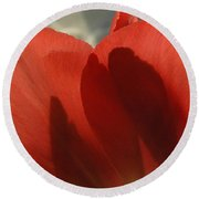 Love Of A Tulip Round Beach Towel