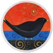 Love Of Birds Round Beach Towel