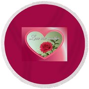 Love One Another Card Round Beach Towel
