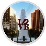 Love Park - Love Conquers All Round Beach Towel