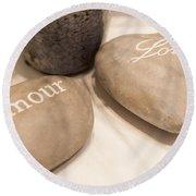 Love Rock Round Beach Towel