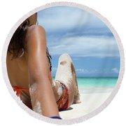 Love The Beach Round Beach Towel