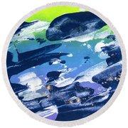Love Those Diagonals - Purple 2 Round Beach Towel