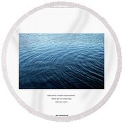 Love What Is Simple Round Beach Towel