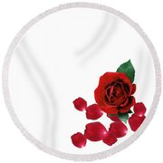 Love You Part 3 Round Beach Towel