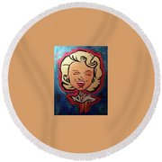 Loved By You Round Beach Towel