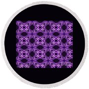 Lovely As A Purple Thought Round Beach Towel