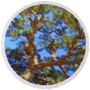 Lovely As A Tree Round Beach Towel